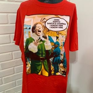 Elf  Will Ferrell OMG Santa I Know Him Tshirt L